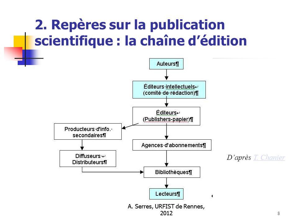 A.Serres, URFIST de Rennes, 2012 9 2.