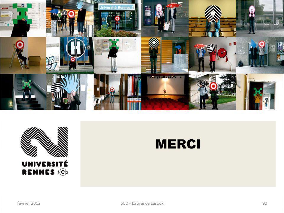février 2012SCD - Laurence Leroux90SCD - Laurence Leroux90 MERCI
