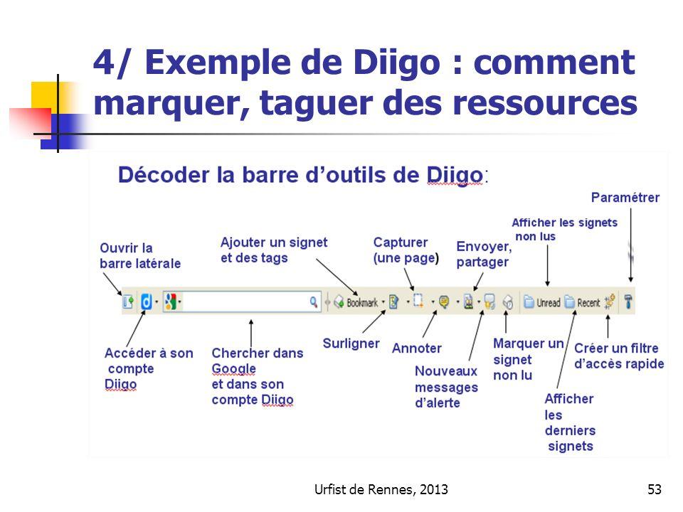 Urfist de Rennes, 201353 4/ Exemple de Diigo : comment marquer, taguer des ressources