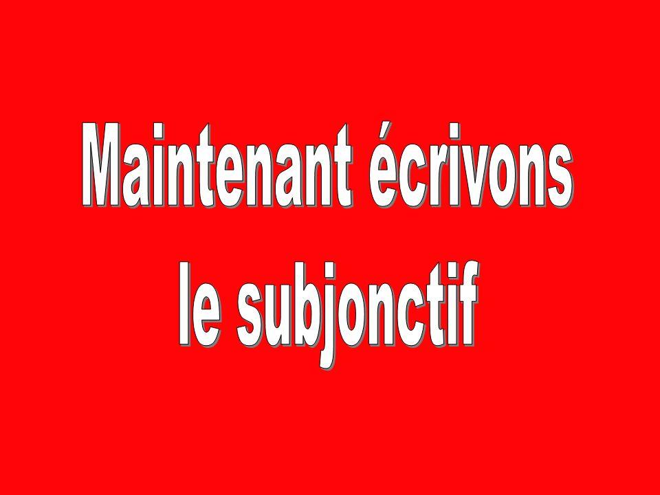 Parlons au subjonctif A) Madame est stricte. (Its natural) Il est naturel que Madame soit stricte.