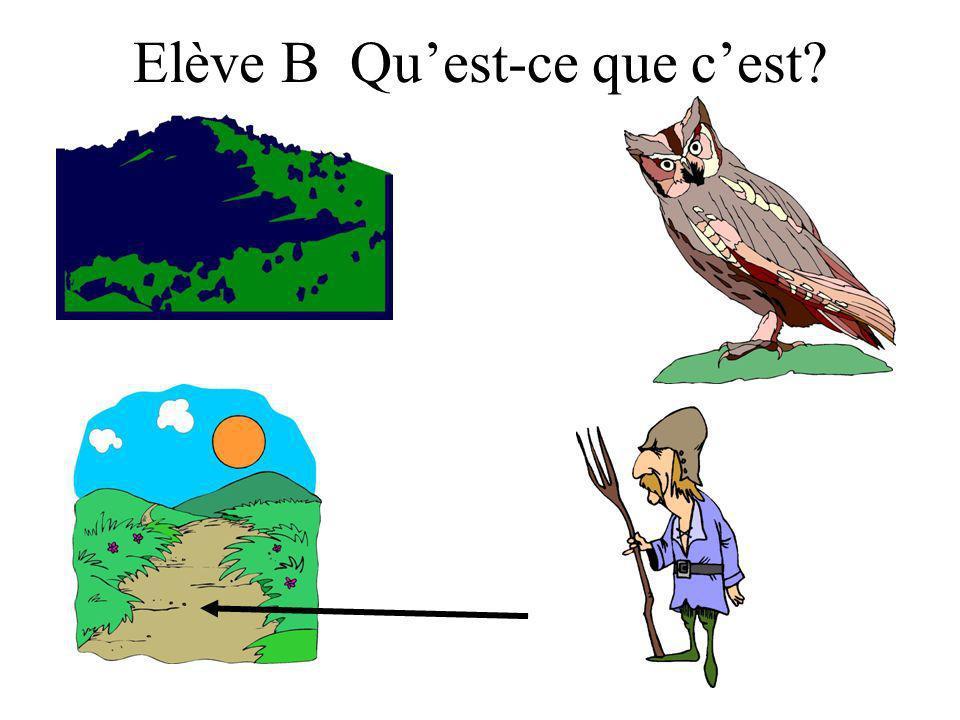 Elève B Quest-ce que cest?