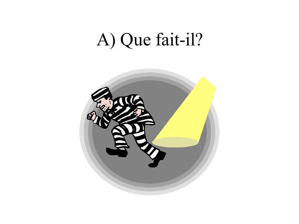 A) Que fait-il?