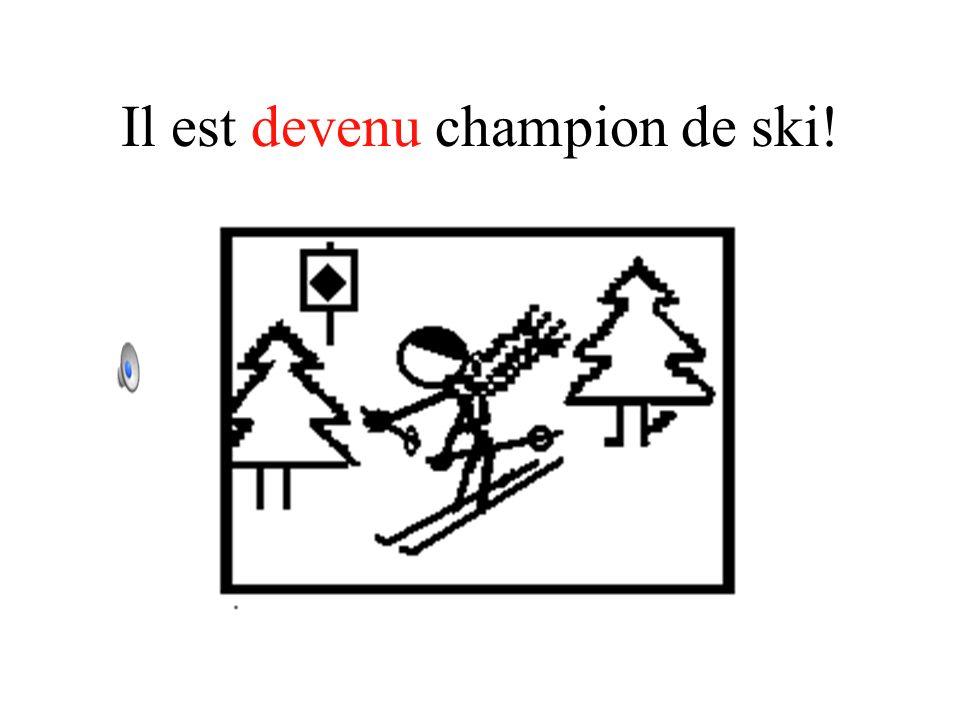 Il est devenu champion de ski!