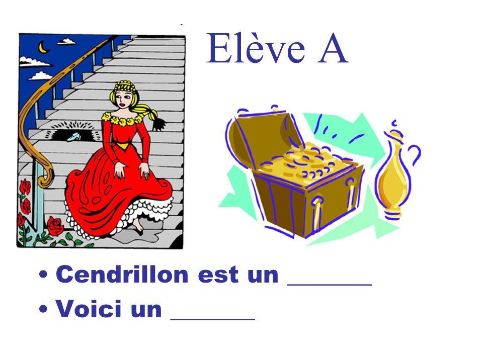 Elève A Cendrillon est un _______ Voici un _______