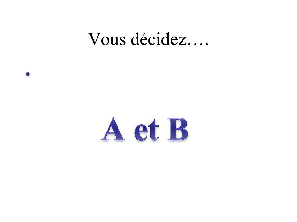 Vous décidez….