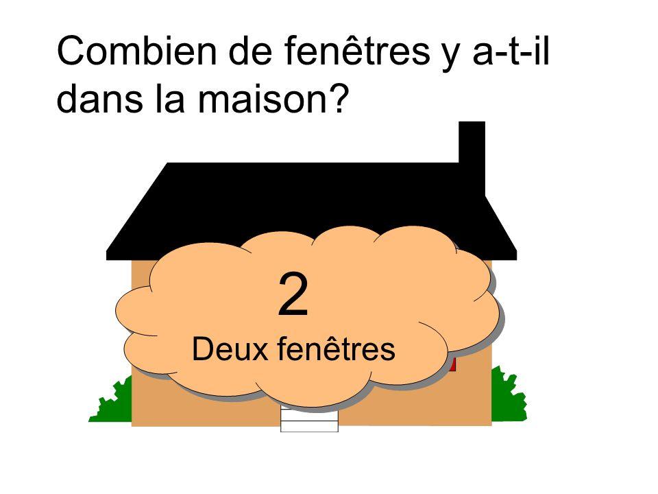 Combien de fenêtres y a-t-il dans la maison? 9 Neuf fenêtres 9 Neuf fenêtres