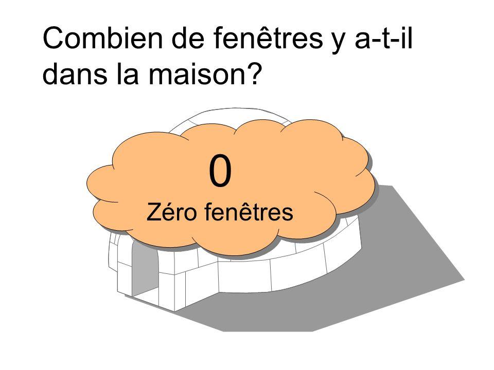 Combien de fenêtres y a-t-il dans la maison? 6 Six fenêtres 6 Six fenêtres