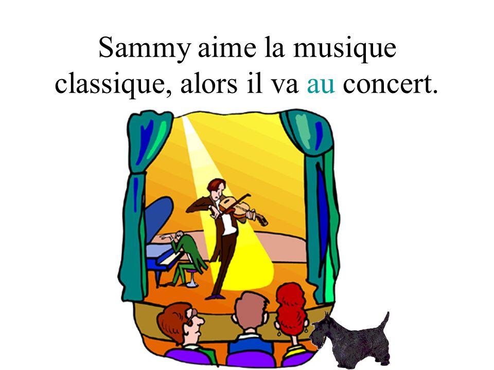 Sammy aime la musique classique, alors il va au concert.