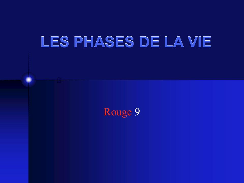 LES PHASES DE LA VIE Rouge 9
