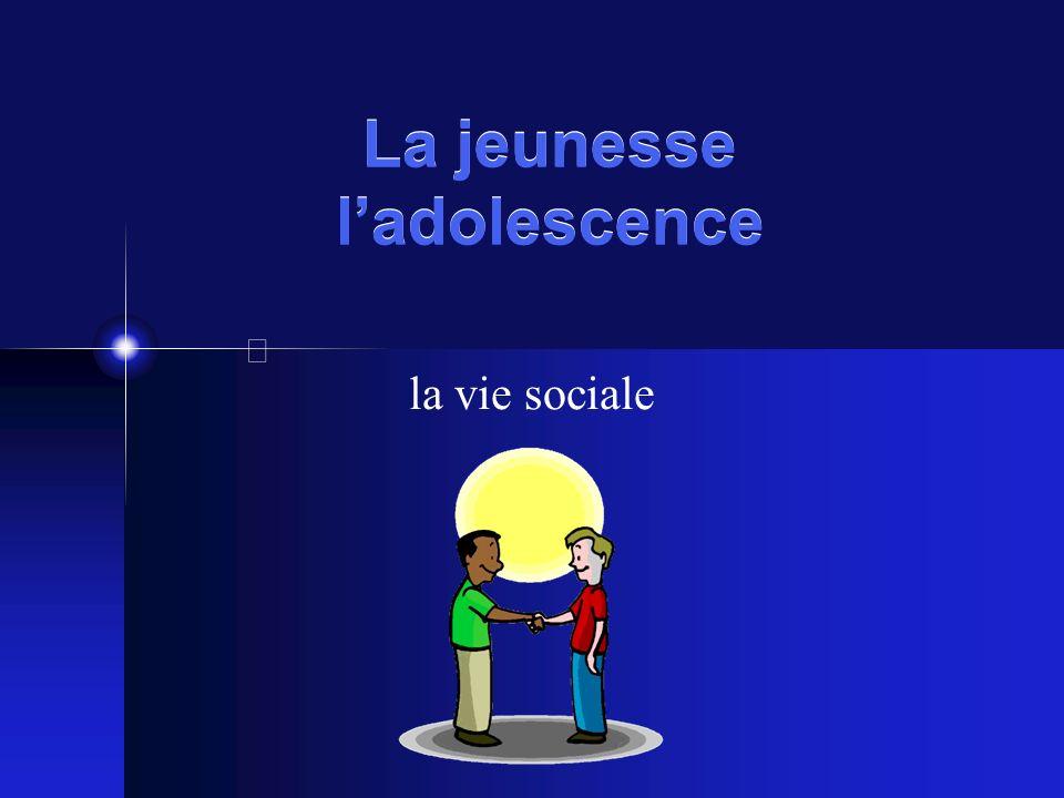 La jeunesse ladolescence la vie sociale