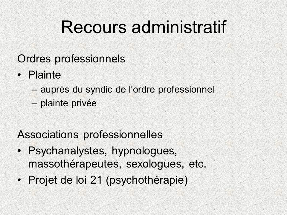 Exemples de décisions Ordre des psychologues du Québec Notion de transfert et contre-transfert « Je voulais plutôt être une personne valorisante à ses yeux quune personne qui était plein de problèmes.
