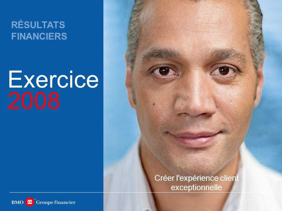 Créer l expérience client exceptionnelle Exercice 2008 RÉSULTATS FINANCIERS