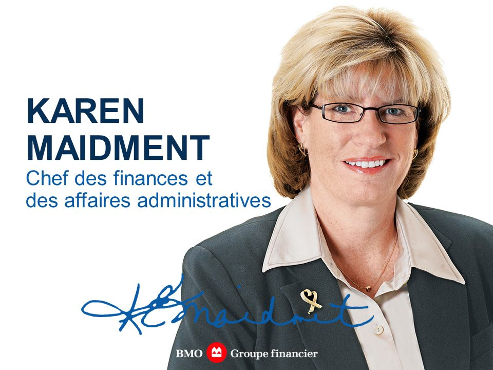 KAREN MAIDMENT Chef des finances et des affaires administratives
