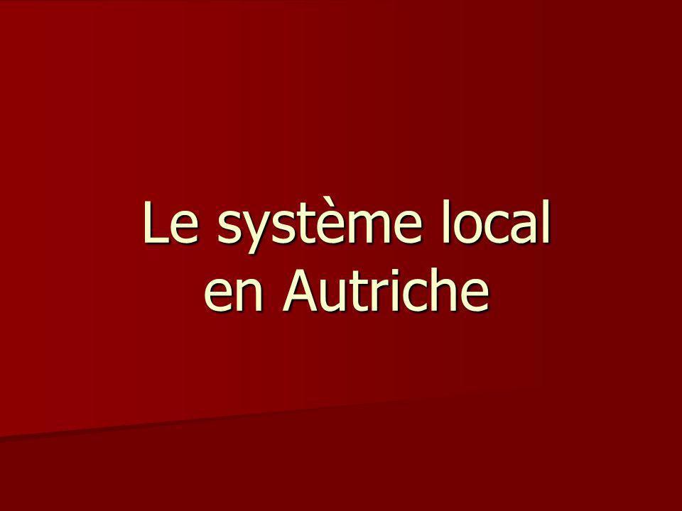 Le système local en Autriche
