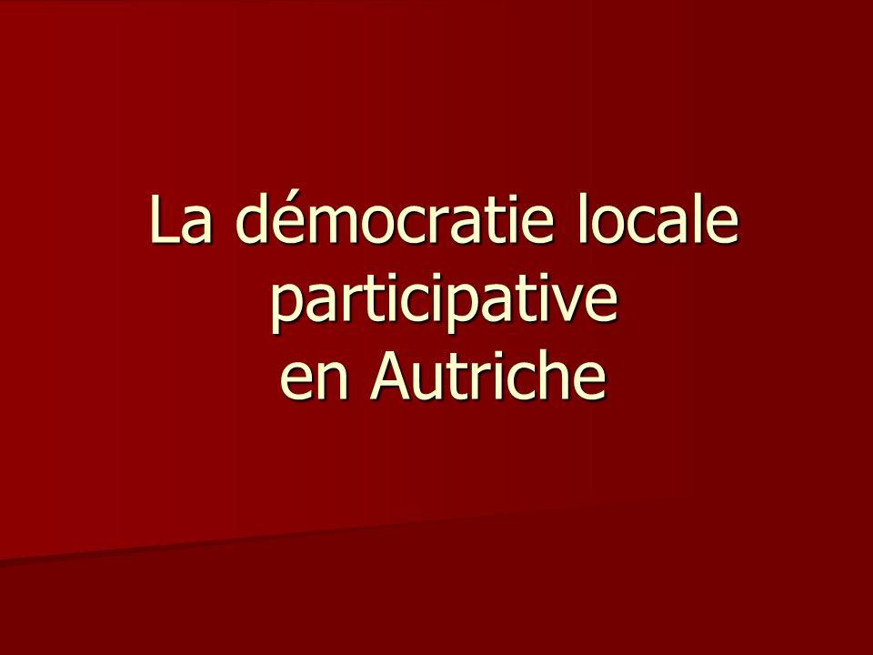 La démocratie locale participative en Autriche