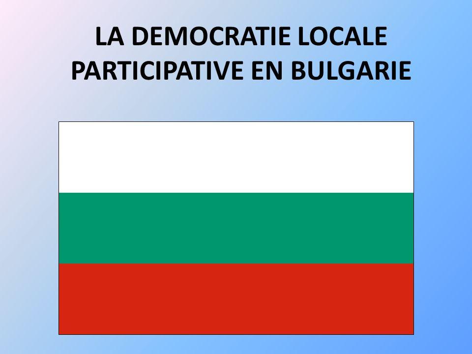 Introduction Contexte historique et institutionnel -C-Chute des régimes communistes -1991 : nouvelle Constitution Contexte politique -I-Intégration à lUnion Européenne -S-Situation socio-économique Où en est la démocratie participative en Bulgarie ?