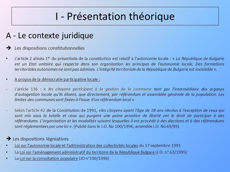 B – Les différents instruments existants 1° / Le référendum