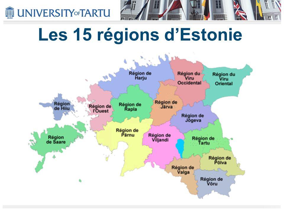 Les 15 régions dEstonie