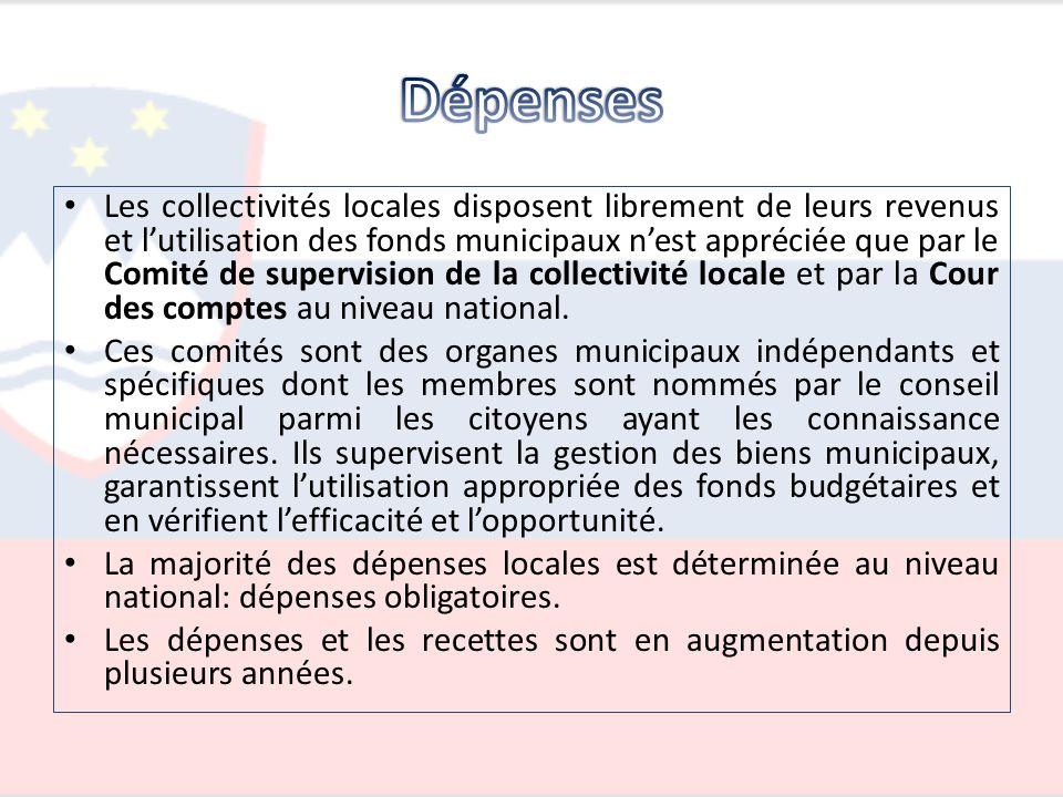 Les collectivités locales disposent librement de leurs revenus et lutilisation des fonds municipaux nest appréciée que par le Comité de supervision de