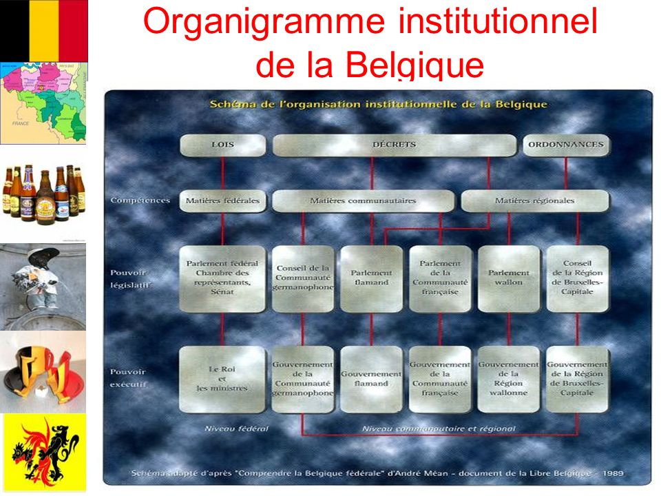 Organigramme institutionnel de la Belgique