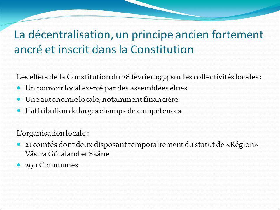 La décentralisation, un principe ancien fortement ancré et inscrit dans la Constitution Les effets de la Constitution du 28 février 1974 sur les colle