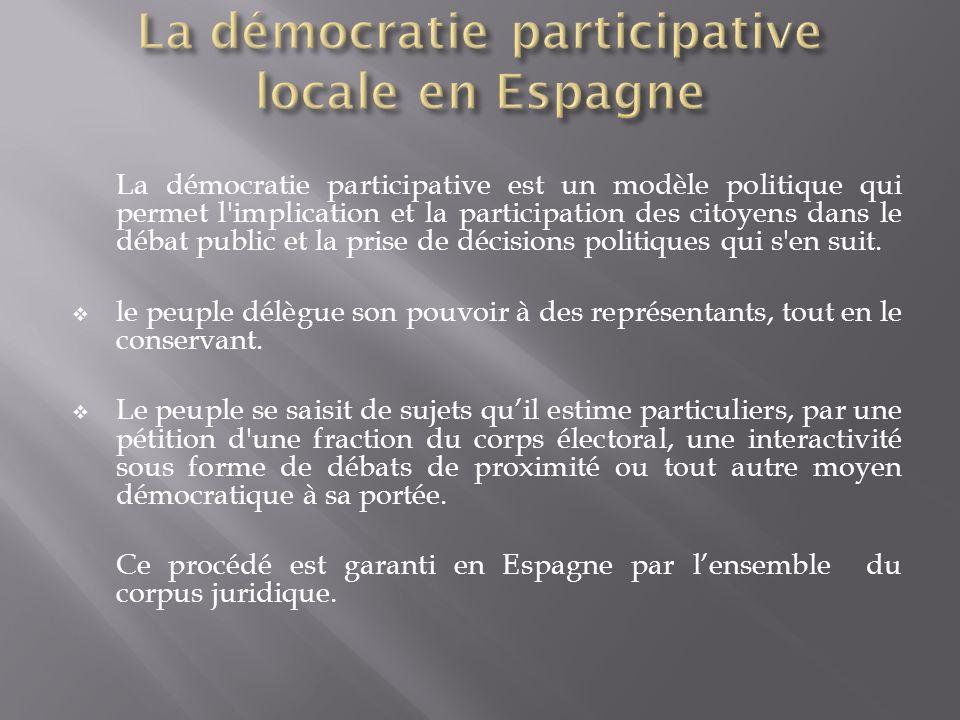 La démocratie participative est un modèle politique qui permet l'implication et la participation des citoyens dans le débat public et la prise de déci