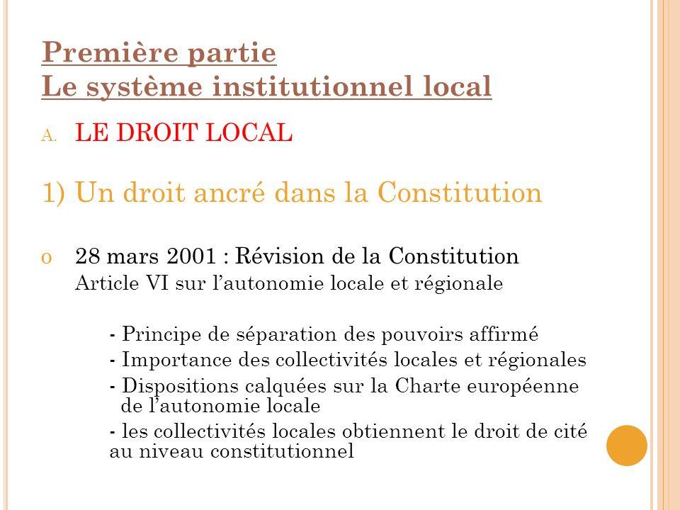 2) La participation directe des citoyens à la prise de décisions Référendums locaux / régionaux - Le pouvoir appartient au peuple en tant que communauté de citoyens libres et égaux.