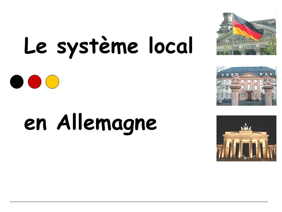 Le système local en Allemagne