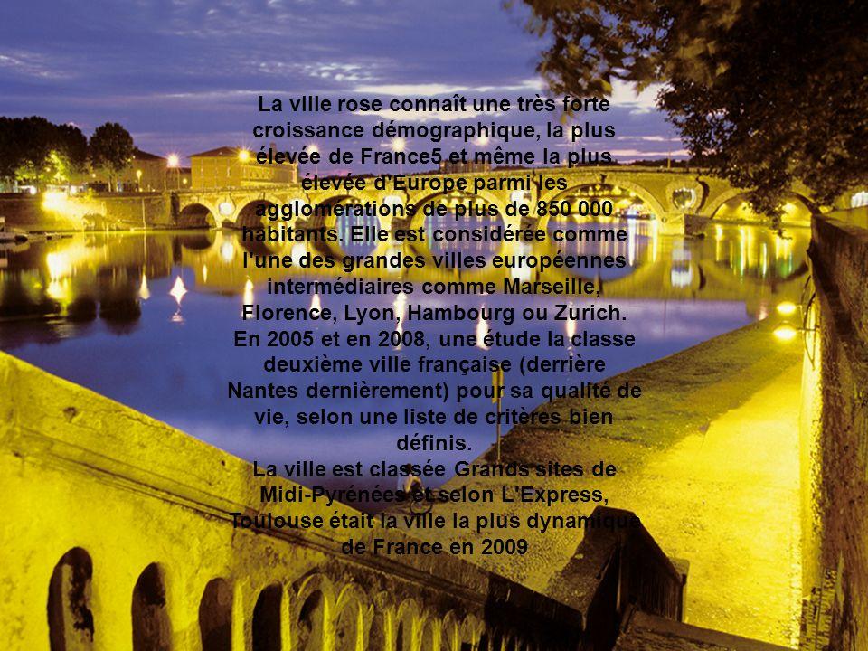 La ville rose connaît une très forte croissance démographique, la plus élevée de France5 et même la plus élevée d'Europe parmi les agglomérations de p