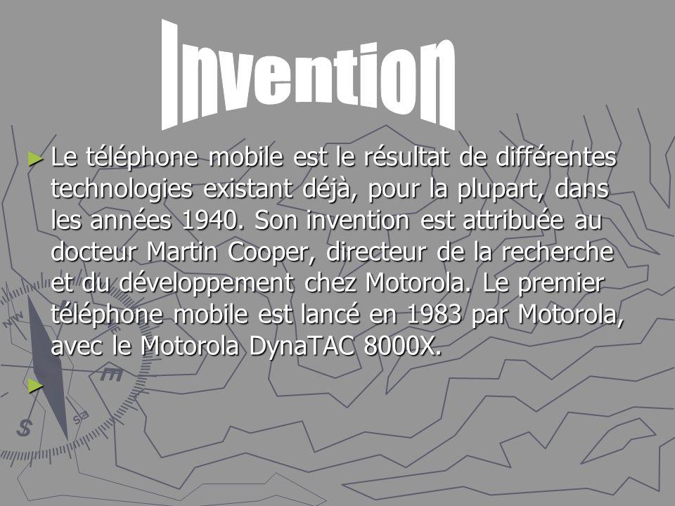 Le téléphone mobile est le résultat de différentes technologies existant déjà, pour la plupart, dans les années 1940. Son invention est attribuée au d