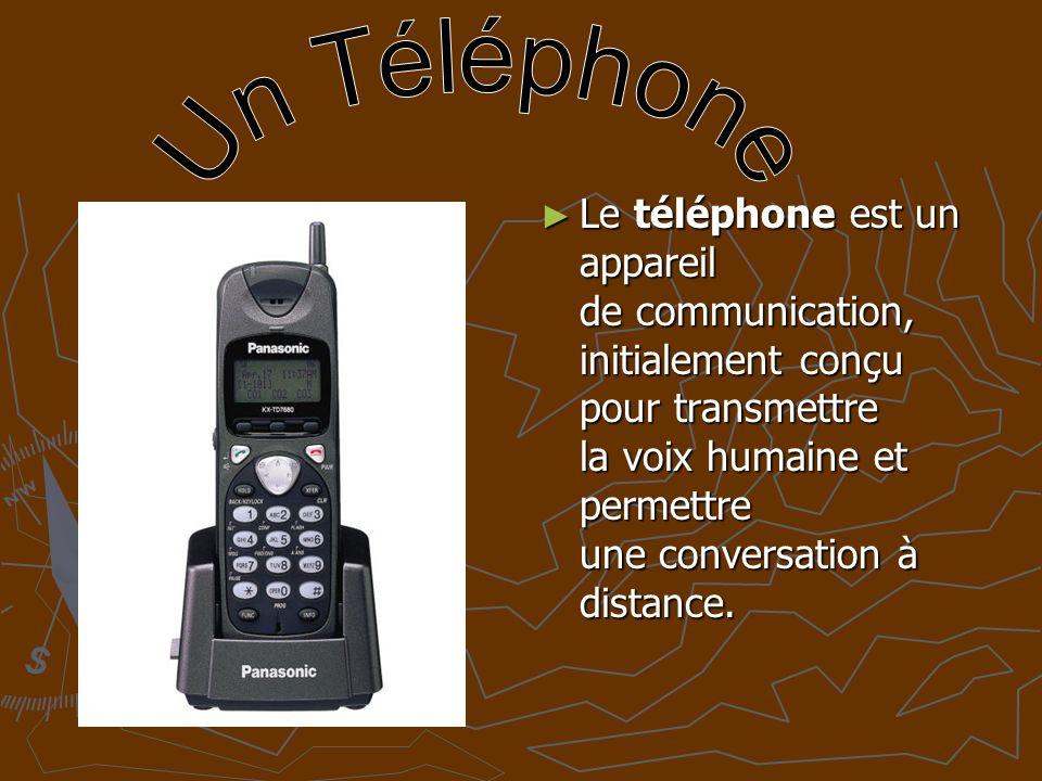 Le téléphone est un appareil de communication, initialement conçu pour transmettre la voix humaine et permettre une conversation à distance.