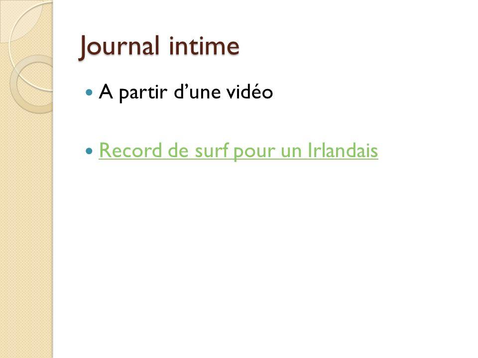 Journal intime A partir dune vidéo Record de surf pour un Irlandais