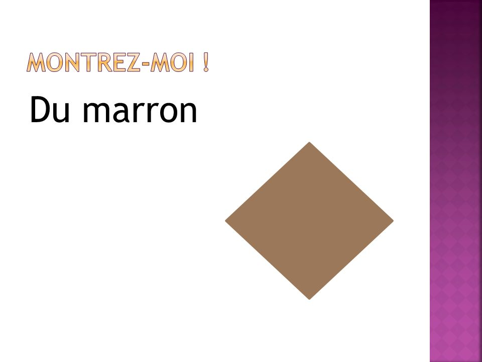 Du marron