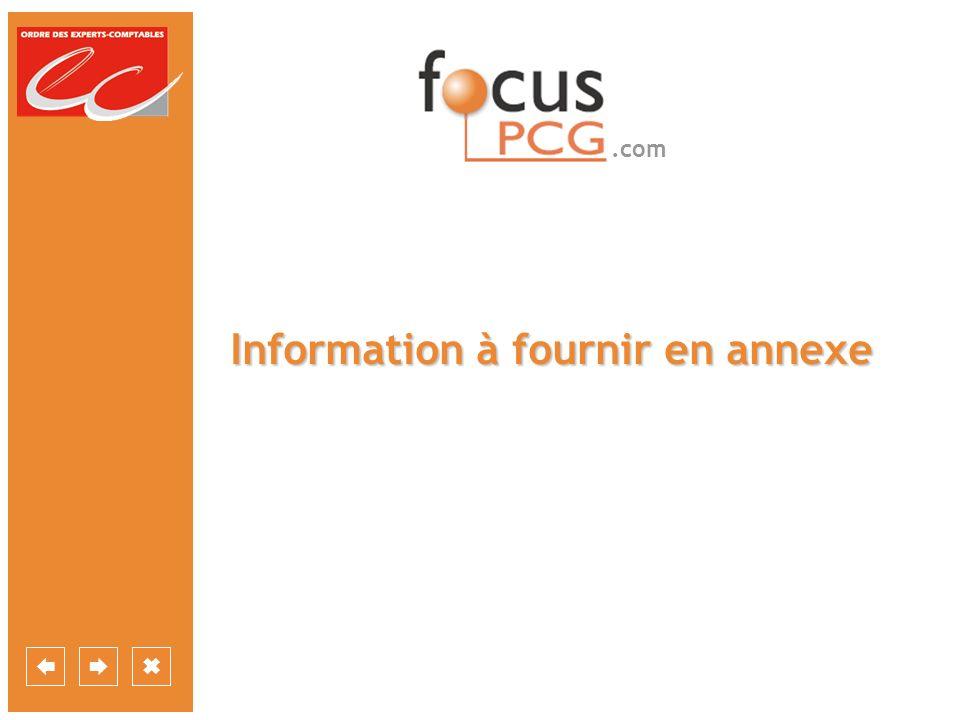 .com Information à fournir en annexe