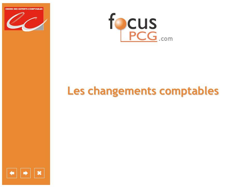 .com Les changements comptables