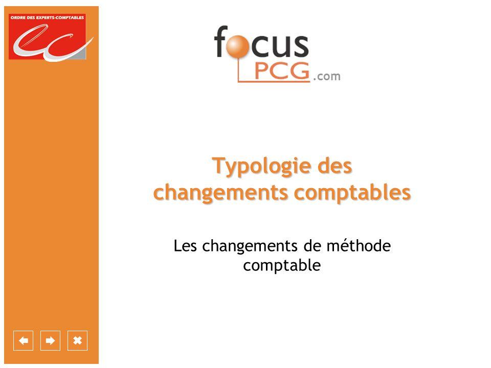 .com Typologie des changements comptables Les changements de méthode comptable