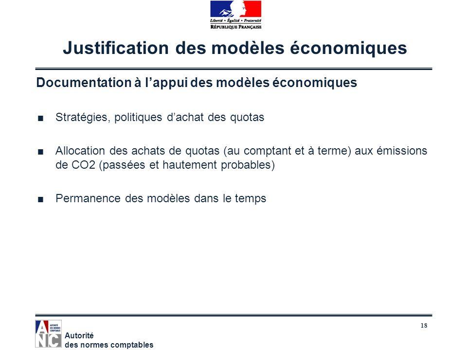 18 Justification des modèles économiques Documentation à lappui des modèles économiques Stratégies, politiques dachat des quotas Allocation des achats
