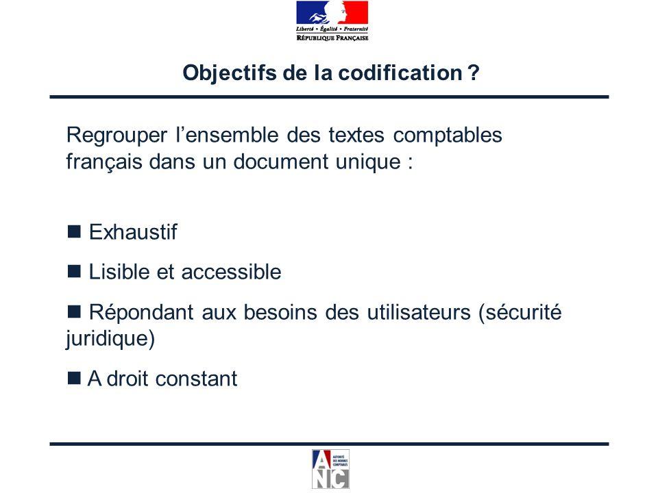 Regrouper lensemble des textes comptables français dans un document unique : Exhaustif Lisible et accessible Répondant aux besoins des utilisateurs (s