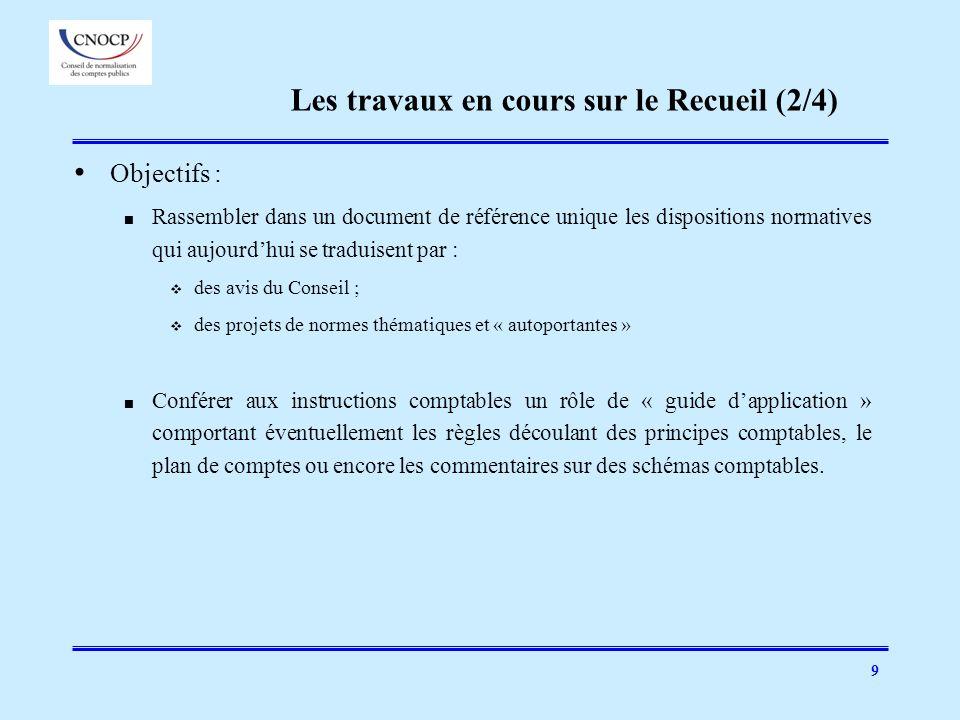 9 Objectifs : Rassembler dans un document de référence unique les dispositions normatives qui aujourdhui se traduisent par : des avis du Conseil ; des