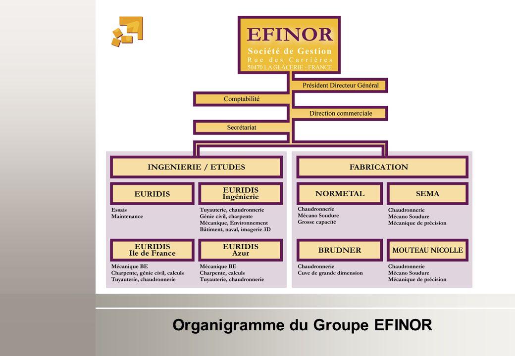 Organigramme de la société EURIDIS Ingénierie 23 personnes