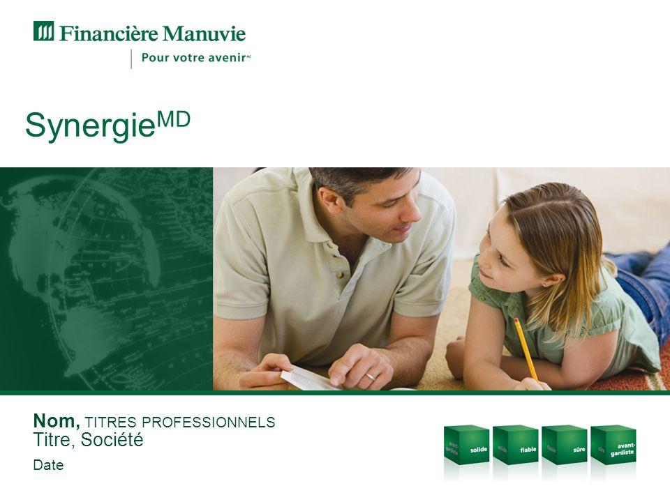 Nom, TITRES PROFESSIONNELS Titre, Société Date Synergie MD