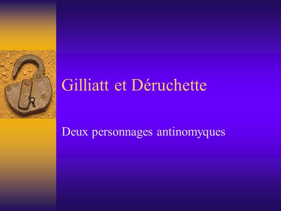 Gilliatt et Déruchette Deux personnages antinomyques