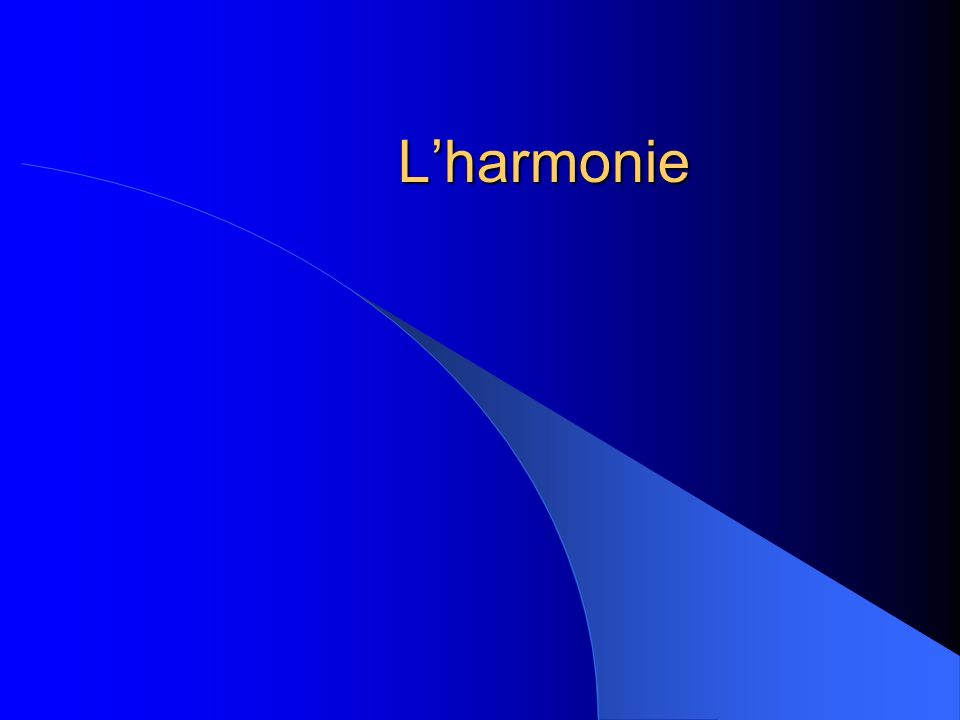 Lharmonie