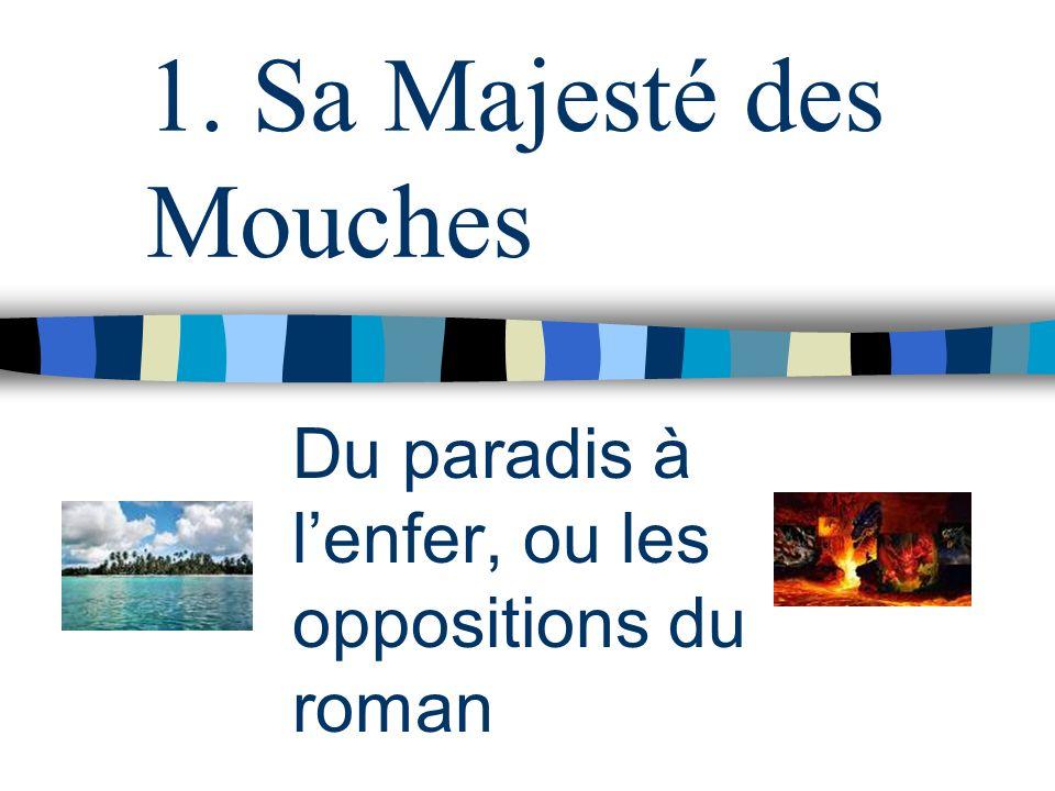 1. Sa Majesté des Mouches Du paradis à lenfer, ou les oppositions du roman