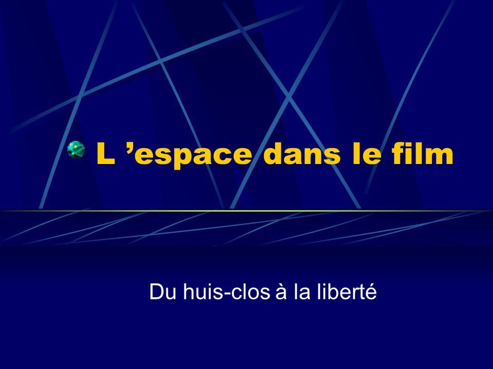 L espace dans le film Du huis-clos à la liberté