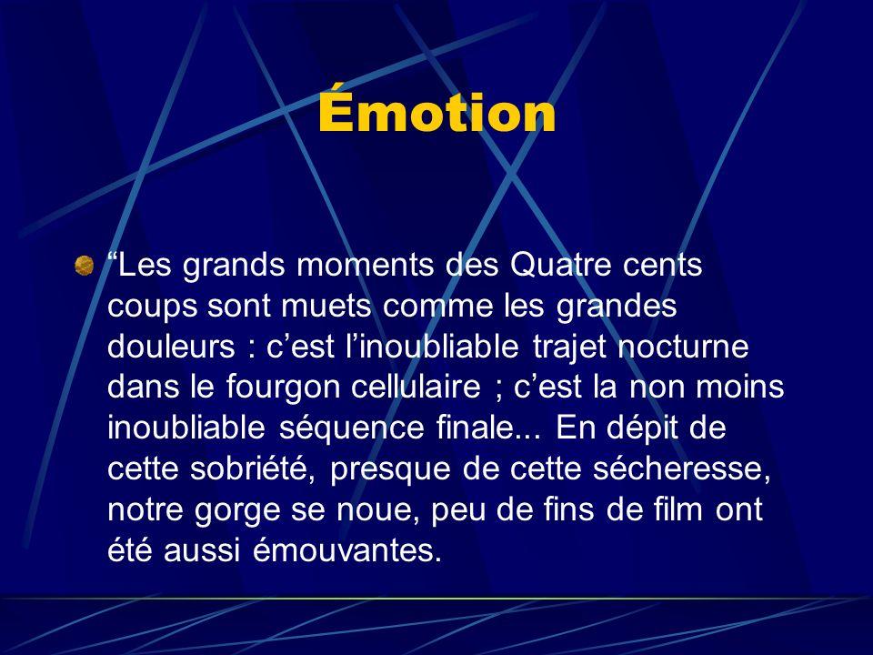 Émotion Les grands moments des Quatre cents coups sont muets comme les grandes douleurs : cest linoubliable trajet nocturne dans le fourgon cellulaire