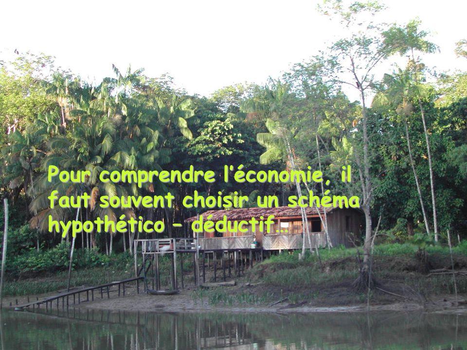 Pour comprendre léconomie, il faut souvent choisir un schéma hypothético – déductif…