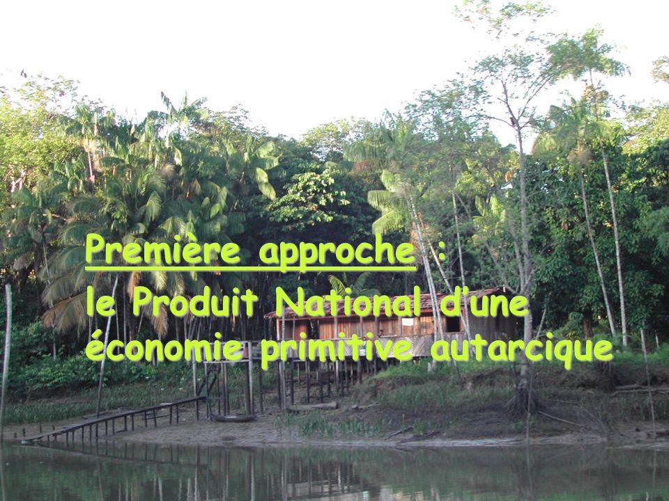 Première approche : le Produit National dune économie primitive autarcique