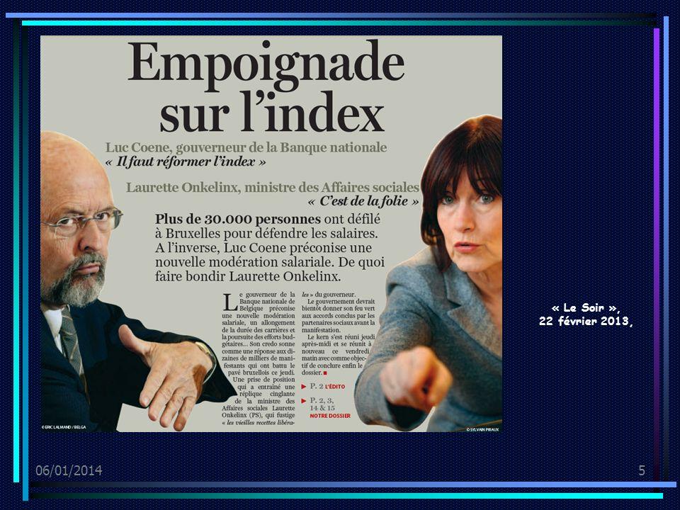06/01/20145 « Le Soir », 22 février 2013,