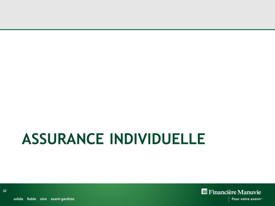 ASSURANCE INDIVIDUELLE 52
